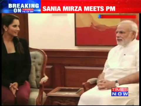 Sania Mirza meets PM Narendra Modi after US Open victory