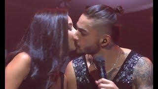 Download Lagu Maluma besa una fan / kisses BEAUTIFUL fan on stage (World Tour - Amsterdam, Afas Live 28.09) Gratis STAFABAND