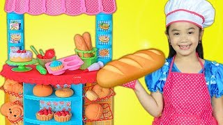 Hana Pretend Play with Pretend Cooking Food Bakery Toys