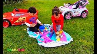 Disney Lightning McQueen Car Kids Drive Power Wheels Kids Pretend Play Dinosaurs