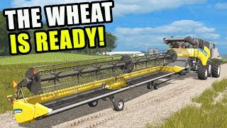 IT'S TIME FOR THE WHEAT TO BE HARVESTED | EP #45 | FARMING SIMULATOR 2017
