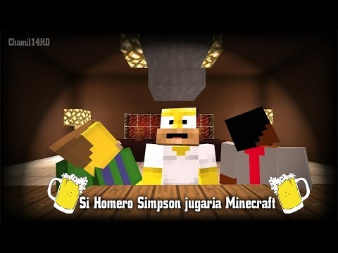 Si Homero Simpson jugaria Minecraft - Cinematica