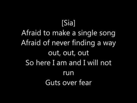 Eminem - Guts Over Fear Feat Sia [lyrics]