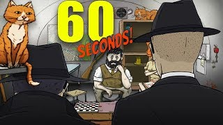 NEW SECRET AGENT ENDING & WE GET A CAT! | 60 Seconds DLC (CATomic Ending)