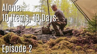 Building a Permanent Camp-10 Days, 10 Items; Alone on an Island in the Canadian Wilderness. Ep2