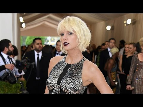 Taylor Swift Goes Goth-Glam in a Cutout Mini-Dress at the Met Gala -- See her Edgy Look!