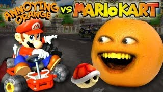 Annoying Orange Vs. Mario Kart