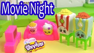 Shopkins Season 2 FAMILY MOVIE NIGHT Glitzi Globes Kids Video Fun Friends House Playset Play