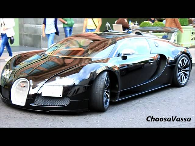 Bugatti Veyron Sang Noir in London Driving Scenes