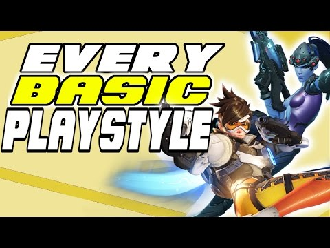 ALL HEROES BASIC PLAYSTYLES - HOW TO PLAY EVERY CHARACTER | Overwatch Guide To ALL Heroes / Tips #1