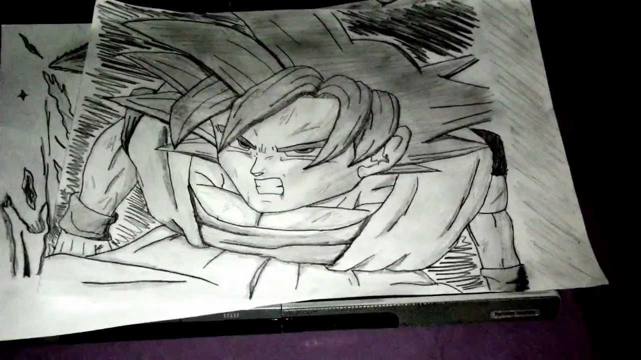 Goku Super Saiyan God Drawings Two Drawings of Goku Super