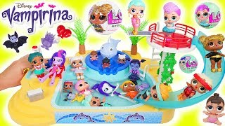 LOL Surprise Dolls Lil Sisters  play at Playmobil Pool