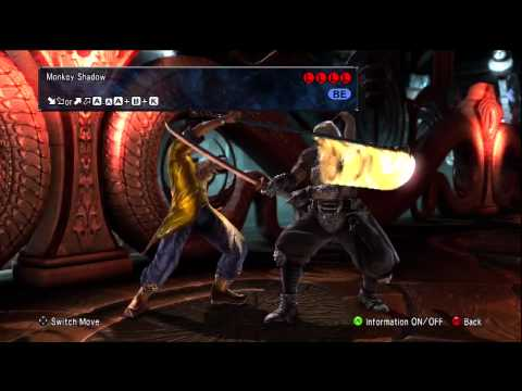 COTV - SoulCalibur 5 Xiba Move List Gameplay