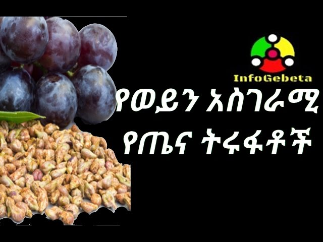 [ Amharic ] The benefit of wine seed.