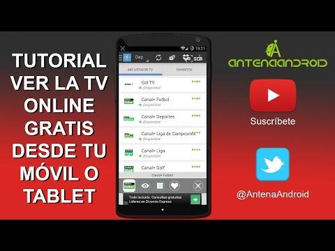 Tutorial: ¿Cómo ver toda la Televisión Gratis desde tu móvil o tablet? (Fútbol, Cine, Series,...)