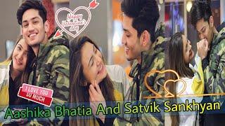 #Valentine'sday | Aashika Bhatia And Satvik Sankhyan TikTok Video 2019|Musically India Compilation.