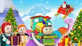 Christmas Thomas Train - Choo Choo Train - Toy Factory - Thomas The Train - Train Videos for Kids