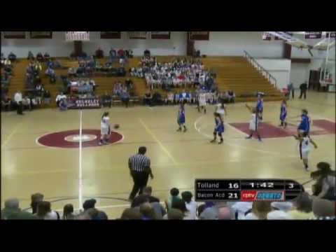 2013 CIAC Class L Girls Basketball Semifinals- Bacon Academy vs. Tolland