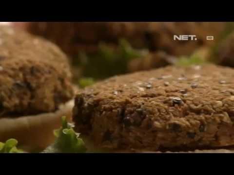 NET12 - Membuat sendiri burger sehat kacang hitam a la vegetarian