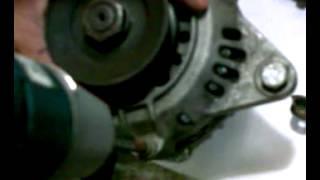 Scrap Alternator converted to PMA (Permanent Magnet Alternator)