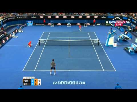 David Ferrer vs Gilles Simon MATCH POINT Australian Open 2015