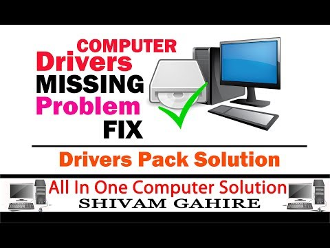 How To Fix || Computers & Laptops || Drivers problem | Drivers Missing || DRIVER PACK SOLUTION
