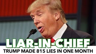 Surprise! Trump Lied 815 Times In 1 Month