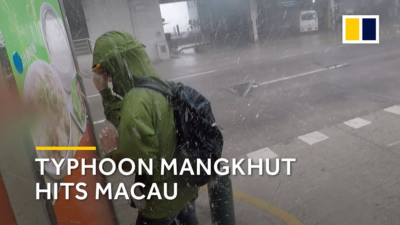 Typhoon Mangkhut hits Macau
