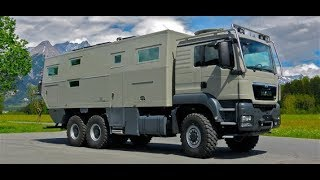 Three axle RV for rugged terrain : Action Mobile Globe Cruiser 7500 Family