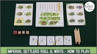 Imperial Settlers Roll & Write - A Dicey Walkthrough!