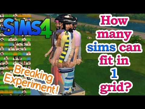How many sims can fit in 1 grid in sims 4? (breaking experiment)