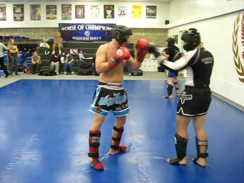 Muay Thai Sparring Knockout Muay Thai Sparring at House of