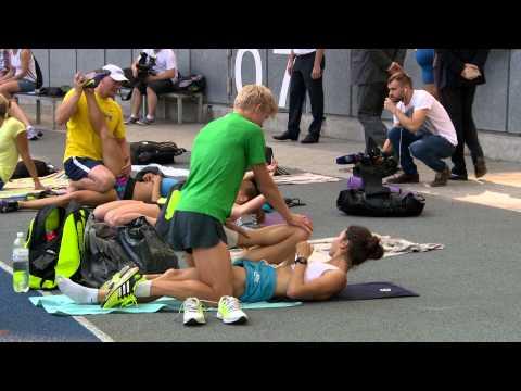 Sexy warm up! Olha Lyakhova, UKR. Athletics national team media day, Kyiv, 11/08/2015.