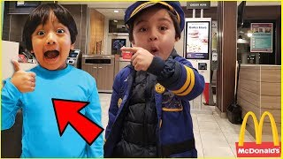 I Mailed Myself to Ryan ToysReview and it worked | McDonald's Happy Meal mukbang