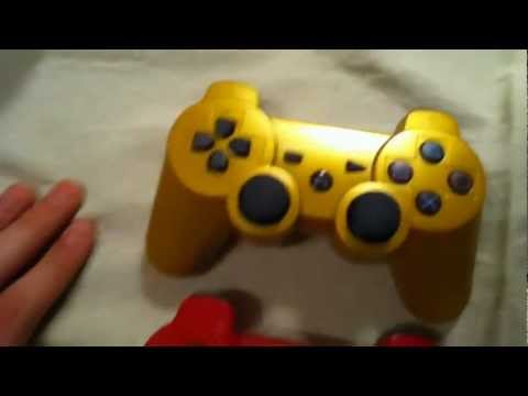 PS3 Dualshock 3 Wireless Controller Unboxing (Gold)
