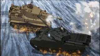 BEST TANK FIRE SCENE 3 Ver.2018 (Girls und Panzer Movie Final battle)