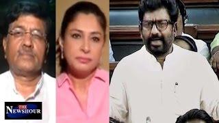 Ravindra Gaikwad In Parliament - Netas Above Law & People?: The Newshour Debate (6th April)