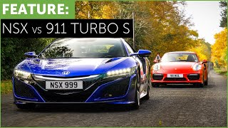 Porsche 911 Turbo S vs Honda-Acura NSX with Tiff Needell