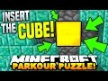 Minecraft INSERT THE CUBE PARKOUR! (FAST PUZZLE MAP!) with Pr...