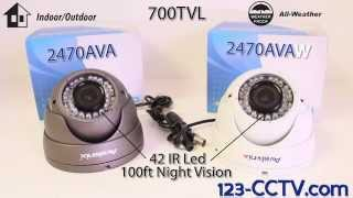 700TVL 960H Vandal Proof Dome Camera 2.8-12mm Sony Effio 123CCTV Review
