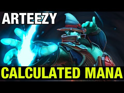 CALCULATED MANA ! - ARTEEZY STORM SPIRIT - Dota 2