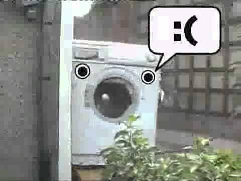 washer machine destroyed