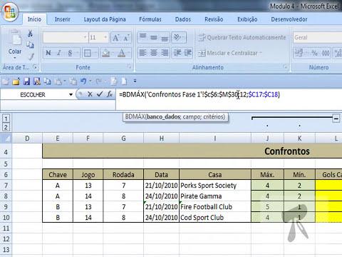 Excel 2007 - Modulo 4   Aula 19   Funcoes Bancos de Dados   BdMax e BdMin
