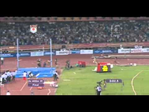 Women's 4x400 relay - CWG - 2010 - Delhi - India wins Gold