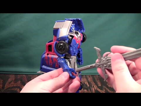 Transformers 4 Age of Extinction Smash and Change Optimus Prime Review (AoE)