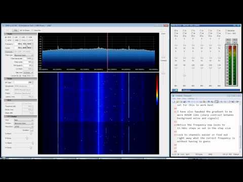 SDRSharp Rev 342 + EzTV666 RTL2832U, Snap tuning and gradient editing