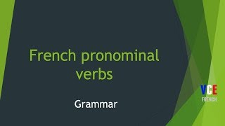 French reflexive and reciprocal verbs