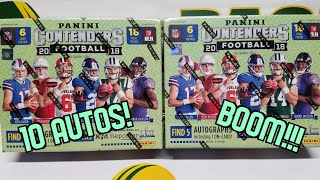 2018 Panini Contenders Football Hobby 2 Box Opening. BOOM!!