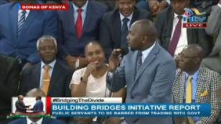 Senator Kipchumba Murkomen booed during BBI report launch