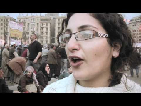 Interview with Egyptian Pro Democracy Activist - Women Activists at Tahrir Square in Cairo, Egypt